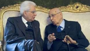 Sergio Mattarella a colloquio con il presidente emerito Giorgio Napolitano