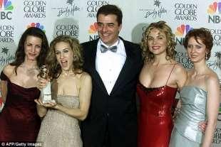 il cast di sex and the city al golden globe nel 2000