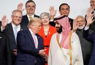donald trump e mohammed bin salman al g20 di osaka