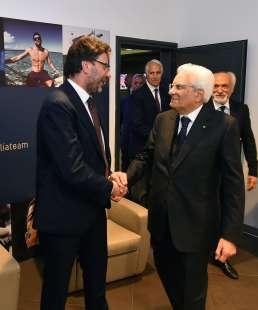 il presidente mattarella con giancarlo giorgetti foto mezzelani gmt008