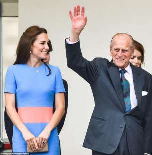 kate middleton e il principe filippo