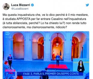 LUCA BIZZARRI E L'INQUADRATURA SBILANCIATA PER FAR ENTRARE ROCCO CASALINO