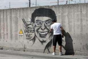 murale in memoria di giancarlo siani