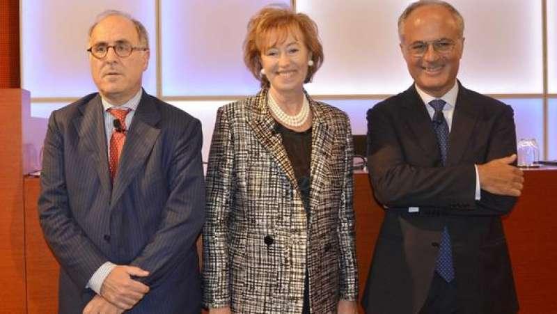ubi - Victor Massiah, Letizia Moratti e Andrea Moltrasio