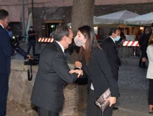 carlo fuortes saluta la sindaca virginia raggi foto di bacco