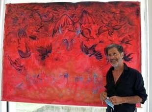 corrado veneziano spiega le sue opere foto di bacco (2)