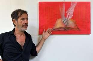 corrado veneziano spiega le sue opere foto di bacco (3)