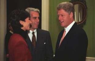 Epstein, Maxwell e Bill Clinton