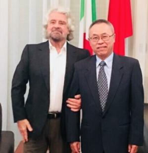 grillo con l'ambasciatore cinese
