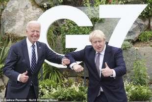 Joe Biden e Boris Johnson