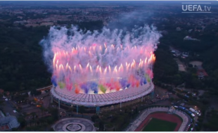 stadio olimpico fuochi d artificio