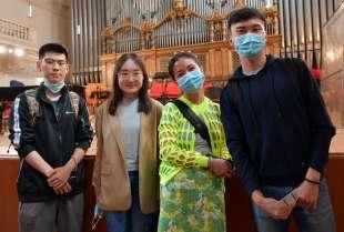 studenti del conservatorio di santa cecilia foto di bacco