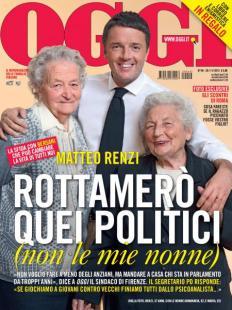 copertina oggi matteo renzi nonne