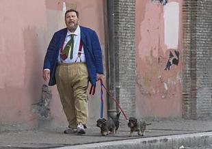giuliano ferrara a spasso con i cani foto colantoni gmt