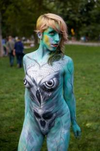 body painting day 84