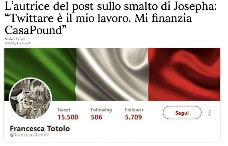 LA STAMPA INTERVISTA FRANCESCA TOTOLO