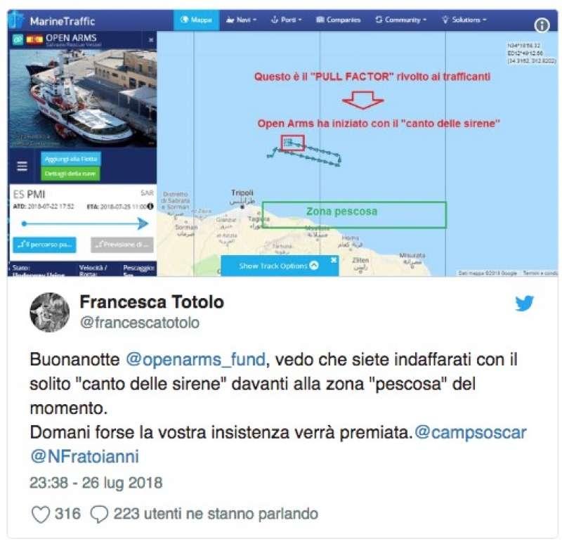 TWEET DI FRANCESCA TOTOLO