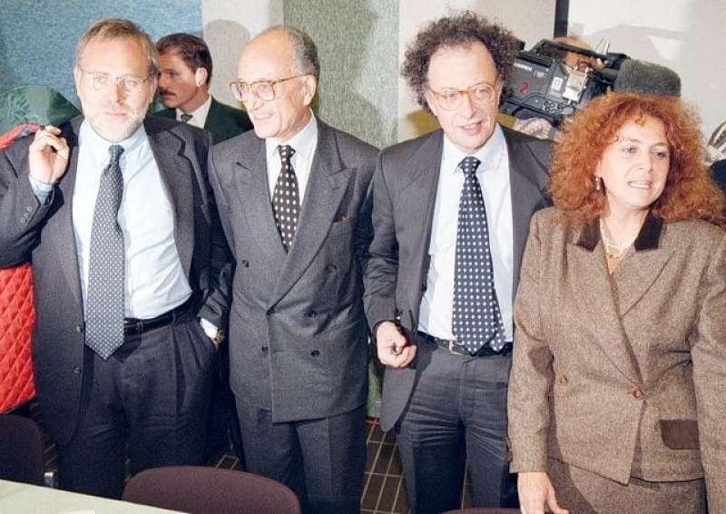 Francesco Greco - Francesco Saverio Borrelli - Gherardo Colombo e Ilda Boccassini
