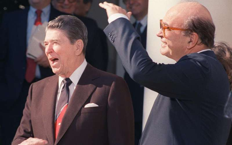 ronald reagan bettino craxi