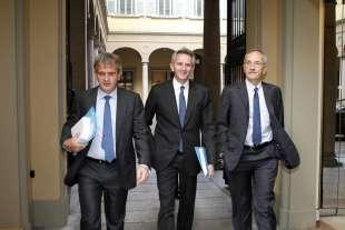 Francesco Saverio Vinci DG Mediobanca Alberto Nagel Ad e Renato Pagliaro Presidente di Mediobanca 0_pr