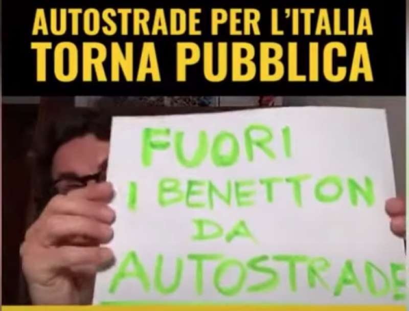 IL VIDEO DI TONINELLI SU BENETTON E AUTOSTRADE