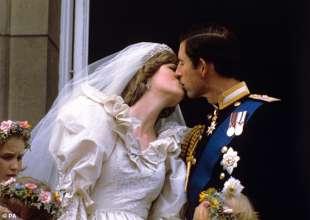 Carlo e Diana il giorno delle nozze