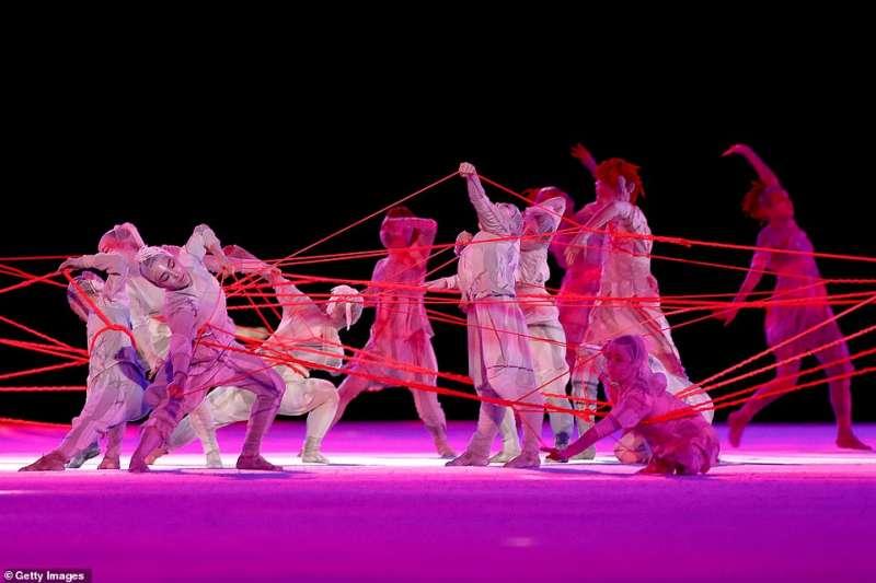 cerimonia apertura olimpiadi tokyo 2020 11