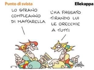 GLI OTTANTA ANNI DI MATTARELLA BY ELLEKAPPA