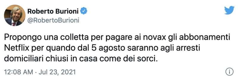 il tweet di roberto burioni sui 'sorci' no vax