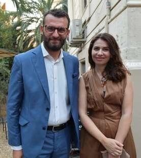 l ambasciatrice del kosovo in italia lendita haxhitasim col marito francesk fusha foto di bacco