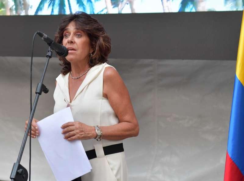 l ambasciatrice della colombia in italia gloria isabel ramirez ringrazia gli ospiti foto di bacco