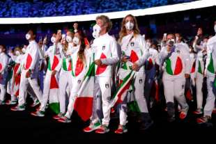 la delegazione italiana alla cerimonia inaugurale di tokyo 2020