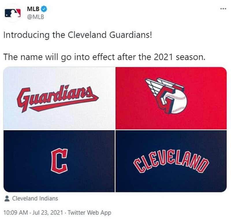 la squadra di baseball cleveland indians diventa guardians 2