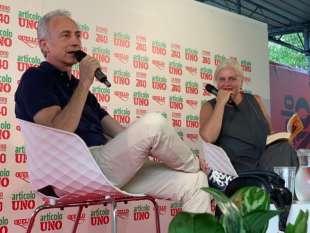 MARCO TRAVAGLIO E CHIARA GELONI