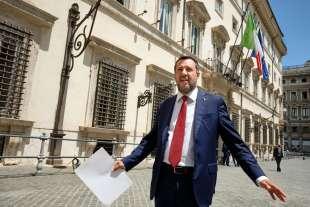 MATTEO SALVINI DOPO L'INCONTRO CON MARIO DRAGHI