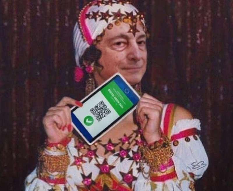 meme su draghi e green pass
