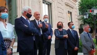 Minniti - fondazione Med-or: Profumo, Carta, Lamorgese, Di Maio, Guerini, Carfagna