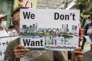 proteste olimpiadi tokyo 2020 7