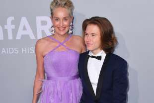 Sharon Stone con il figlio Roan