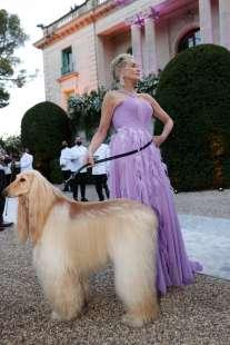 Sharon Stone con il suo cane