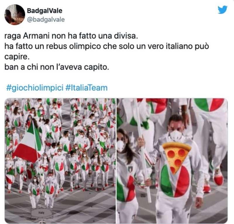tweet sulla divisa italiana a tokyo2020 3