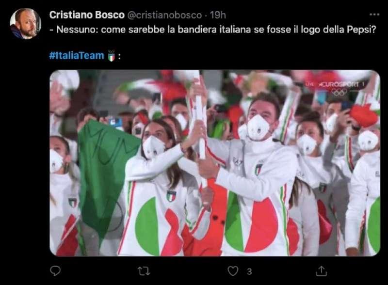 tweet sulla divisa italiana a tokyo2020 8