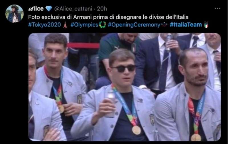 tweet sulla divisa italiana a tokyo2020 9