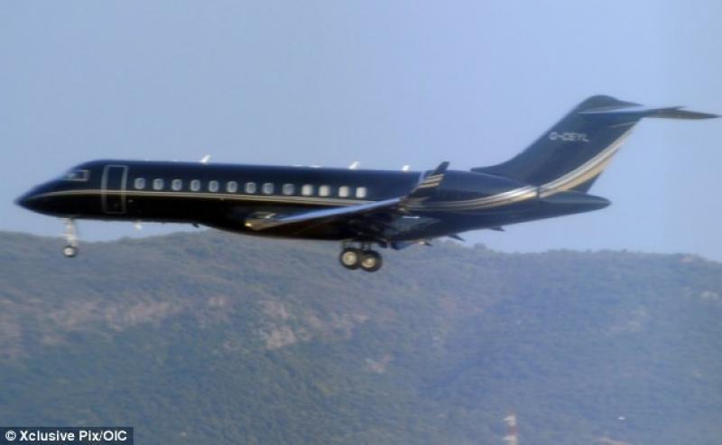 Jet Privato Olbia : Il jet privato di tony blair arriva in sardegna dago
