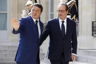 Francois Hollande e Matteo Renzi