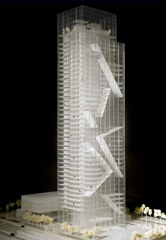 Rendering della torre torinese progetto fuksas dago for Grattacielo torino fuksas