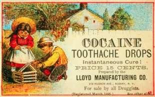 cura per il mal di denti alla cocaina, 1885