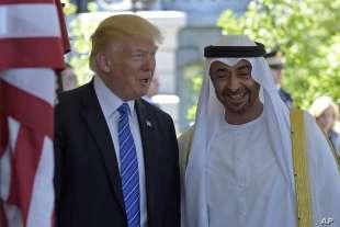 donald trump con lo sceicco mohamed bin zayed al nahyan 6