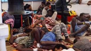 migranti a bordo della open arms 1