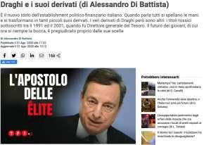 ARTICOLO DI ALESSANDRO DI BATTISTA CONTRO DRAGHI SU TPI